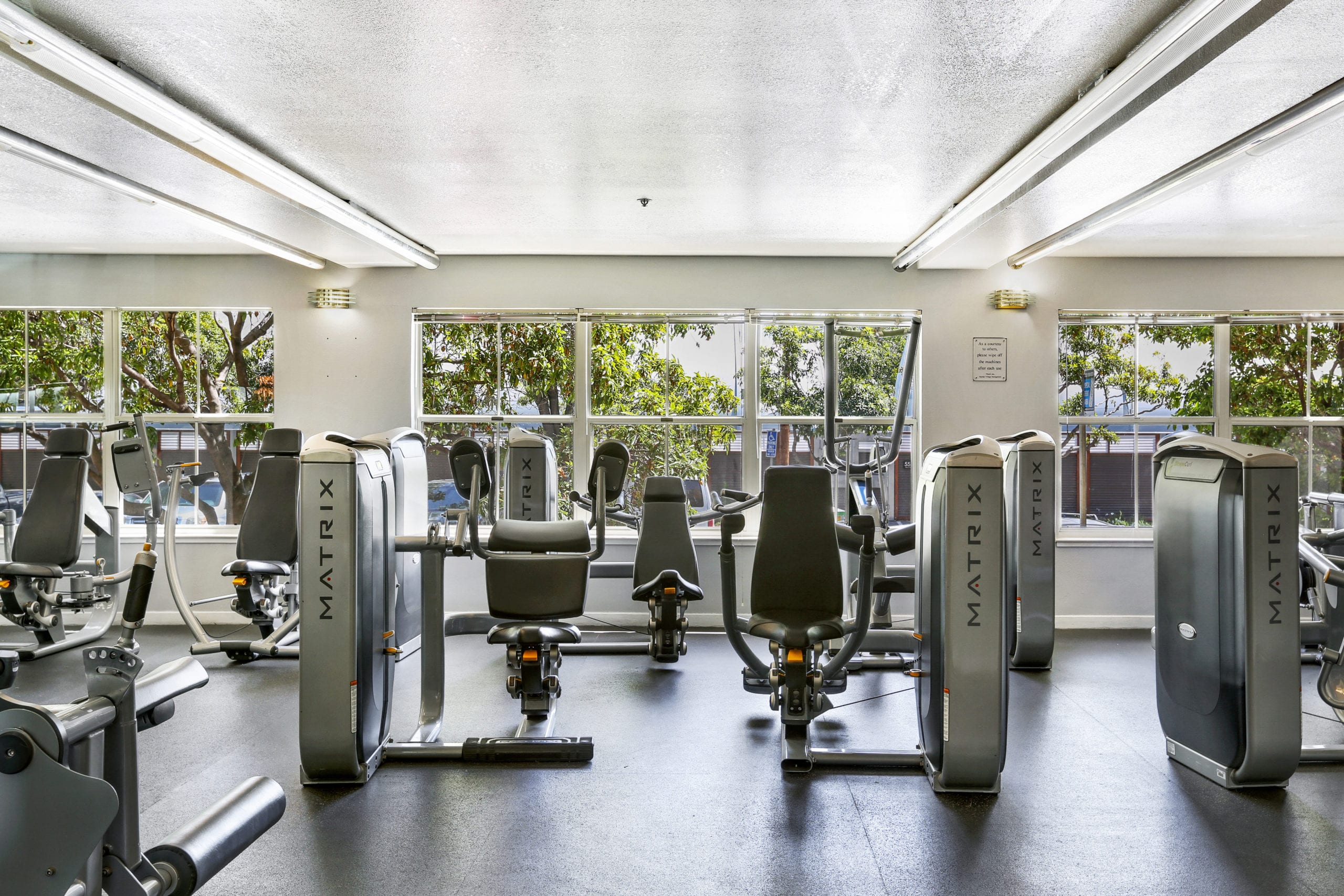 fitness center at bayside village apartments amenities