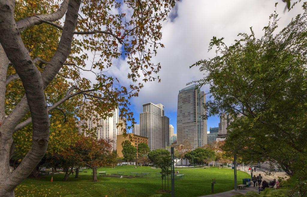 downtown san francisco park near rental apartments